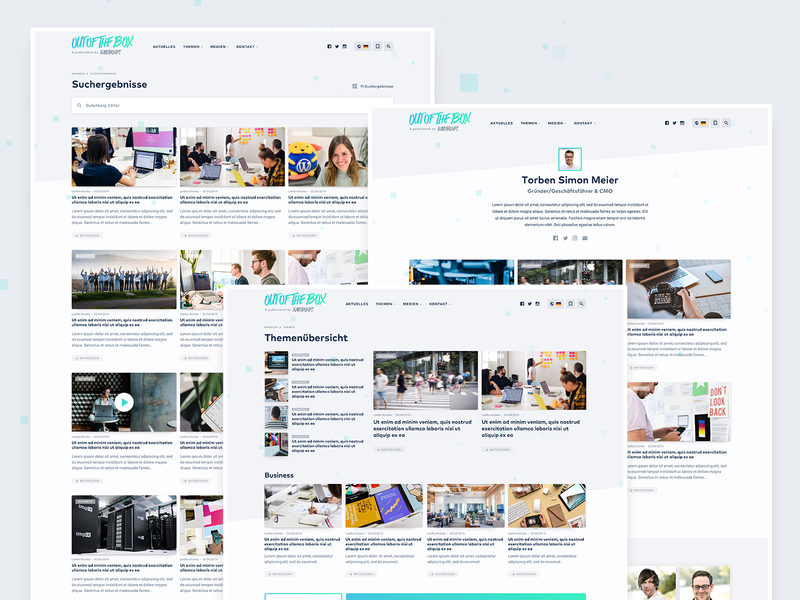 WP Magazine – Archives & Search Results blogger design articles cards author category archive search website web ux ui blog