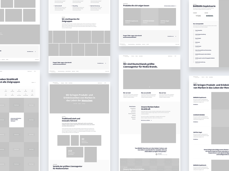 Brands – Wireframes header images homepage web prototyping wireframes ux ui