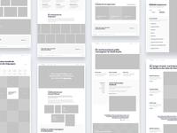 Brands – Wireframes header images homepage web prototyping wireframes ux ui
