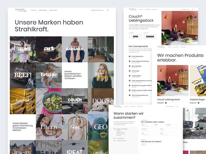 Brands – Pages sticky case study form brands logos grid design website ux web ui