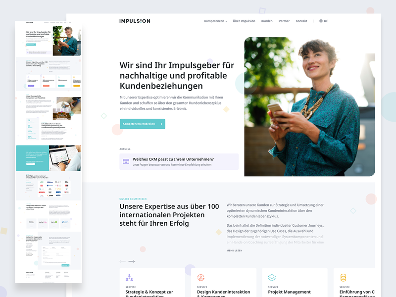 Consulting | Home onepager services cards slider homepage consulting design ux ui