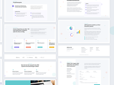 Consulting | Components footer content logos form website uxui slider cards uidesign web sections ux ui