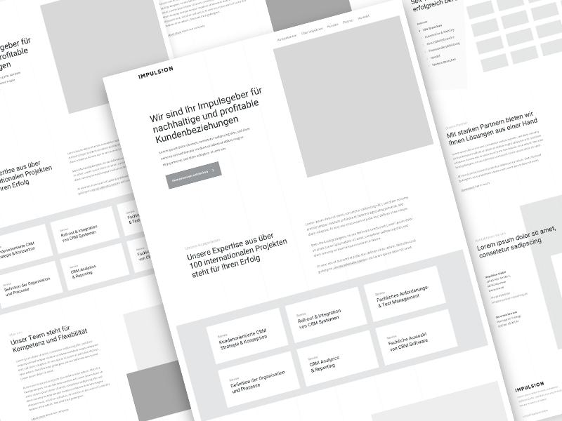 Consulting | Wireframes minimalistic clean services consulting ui ux one-page onepager sans-serif hero website web cards wireframes