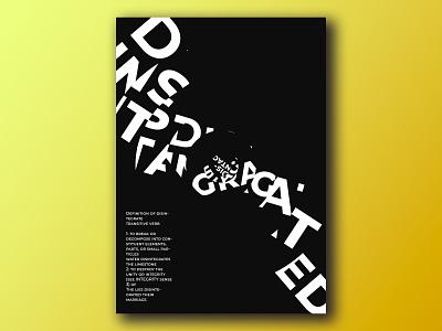 Poster text poster text disintagrate text poster art postcard poster photoshop design