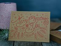 Christmas Card Gocco Print