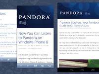 Blog showcase mobile
