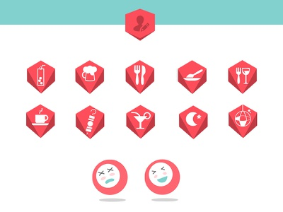 Flat icons for mobile app (GameCheck) ana rebeca perez icon game symbol app flat material shape concept buttom trendy character