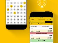 App design Loterias El Mundo