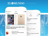 App Design El Mundo — Medios, Noticias, News, World,