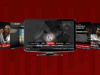 "Design for smart TV application. ""As"". Sport"