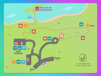 Map to get to Gaztelugatxe, shooting location of Game of Thrones