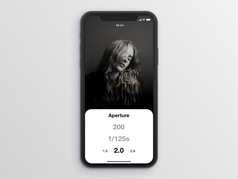 Light Meter App iphone app mockup iphone x flat app ux ui design