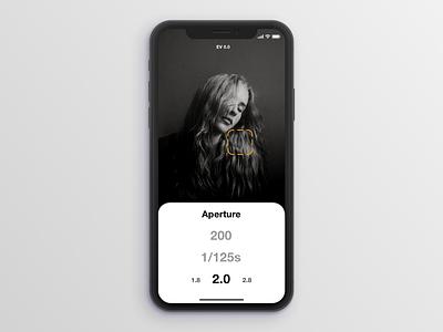 Light Meter App iphone app mockup iphone x flat app ux ui design