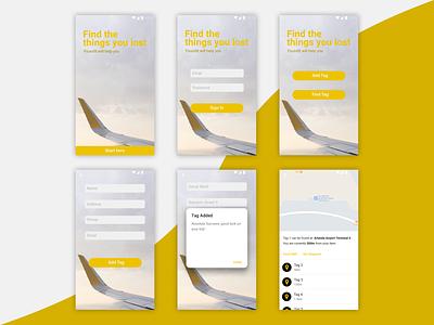 Foundit | hackathon project nfc mockup ux ui android iphone app flat design app