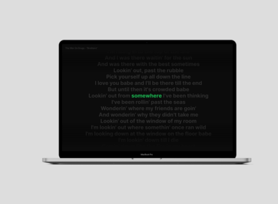 SongScreen a Spotify MacOS screensaver
