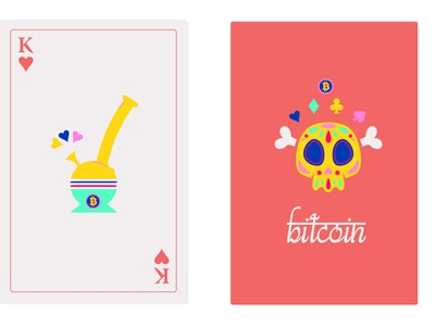Bitcoin Card Deck 4 / 4 drugs vibrant art popart edgy deck of cards bitcoin vector minimal illustrator illustration flat graphic design design