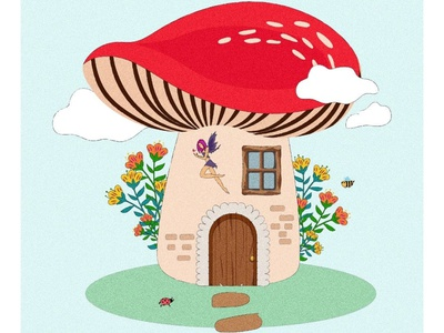 Mushroom Utopia dailyillustration art adobe adobe illustrator vector ui minimal illustrator illustration flat graphic design design