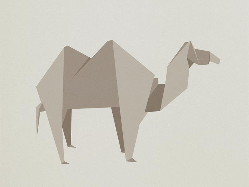 camel origami illustration by bobby monroe dribbble