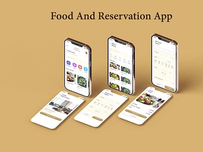FOOD AND RESERVATION APP restaurantreservationapp foodapp appdesign mobileapp uiux