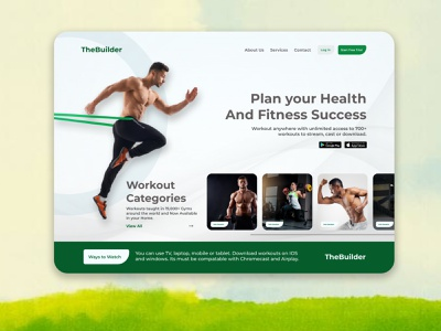 Workout Landing Page body planning uxdesigns uxdesigner webdesign landingpage webpage healthy fitness workout resarch uxdesign uidesign ui  ux ux ui illustration design uiux
