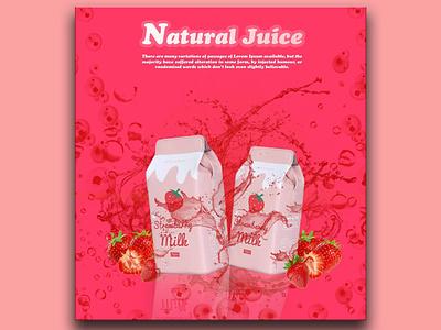 Strawberry splash natural juice water splash strawberry milk juice strawberry milk juice flyer strawbery milk templatedesign photoshop template graphic digitalart photoshop art design photoshop action graphicdesign creativity creative design
