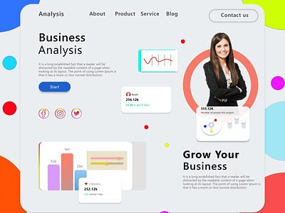 Business Analysis Website UI design business business web business website webtemplate websites website design digitalart ui uiux uidesign adobexd graphic templatedesign graphicdesign creativity creative design