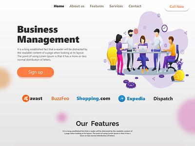 Business Management UI design ui design adobe xd figmadesign web designer website web ui webdesign glassmorphism glassmorphic uiux uidesign ui adobexd graphic templatedesign graphicdesign digitalart creativity creative design