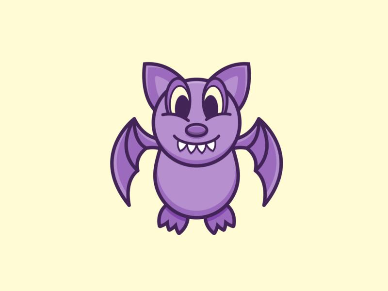 Bat Icon icon design purple vector halloween bat illustration iconography icon
