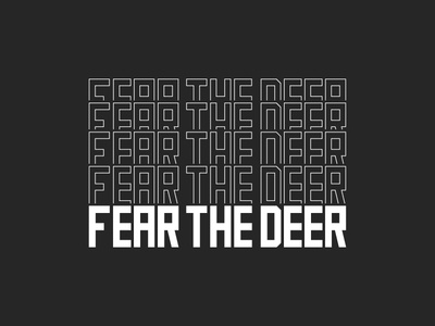 2018 Fear The Deer Playoff Giveaway Shirt