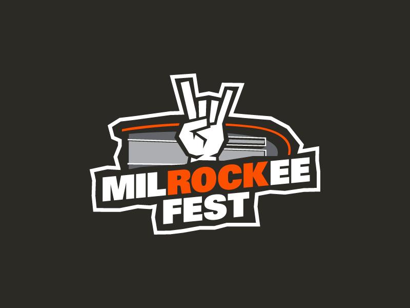 MilROCKee Fest vector t-shirt design orange graphic design branding logo milrockee fest fest rock milwaukee