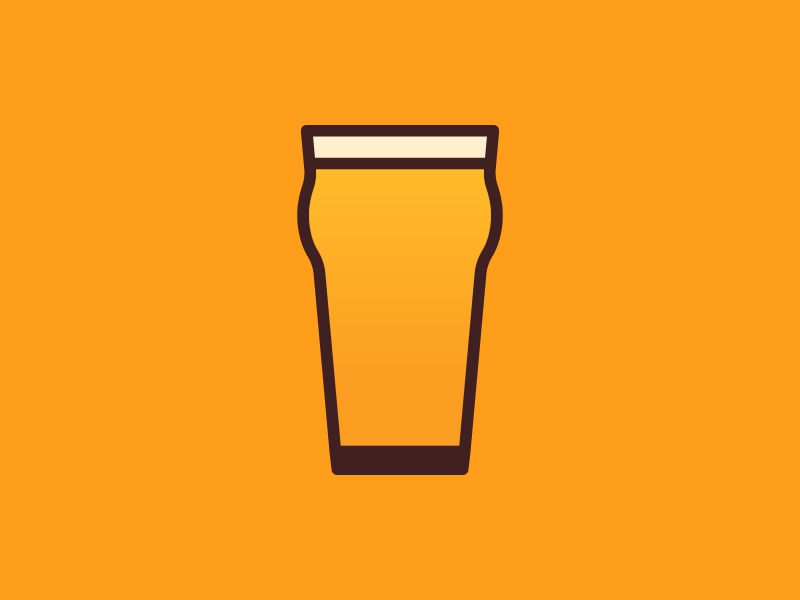 Craft Beer Icon beer glass logo graphic design branding icon craft beer