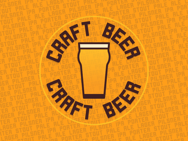 Craft Beer Stand icon pale porter stout ipa lager badge graphic design branding craft beer