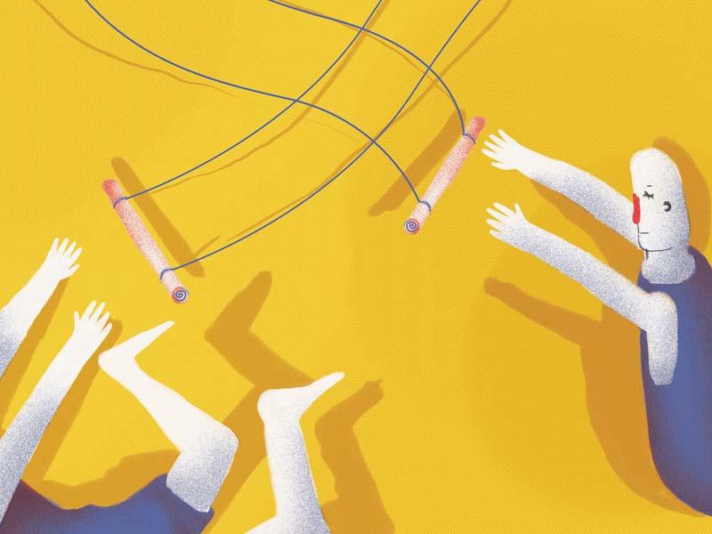 Trapecistas. childrensbook trapezist circus illustration
