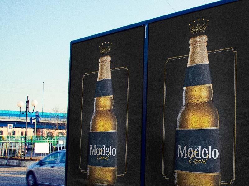 Rebrand Cerveza Modelo. mockup illustration beer branding
