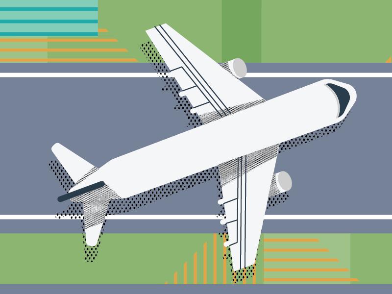 Airport 2 control hangar traveling editorial vector illustration airport