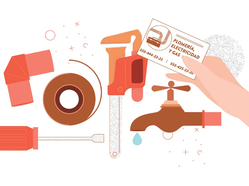 Plumber copper leak water texture infographic plumber vector illustrator