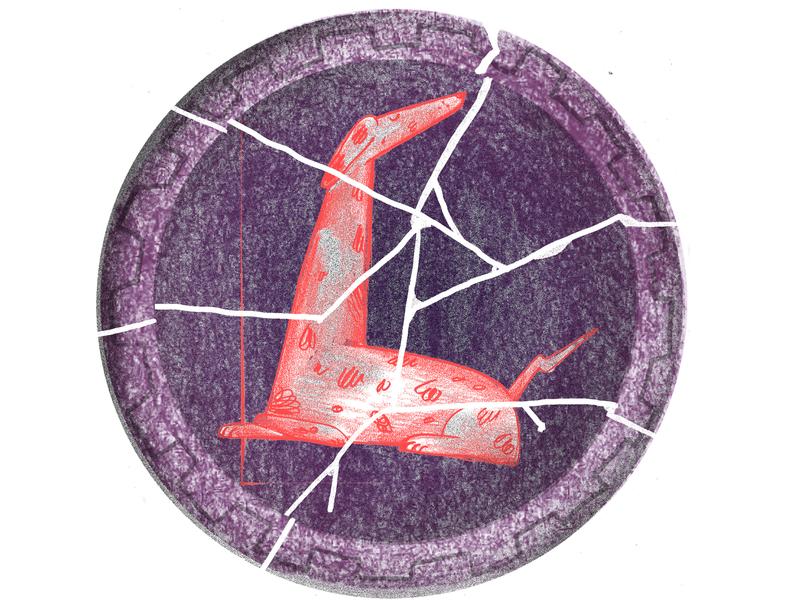 Wabi Sabi wabi sabi broken dog plate elle editorial illustration illustration
