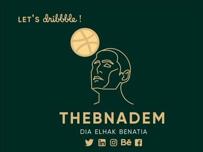 My Logo: TheBnadem gold hello hello dribble first post first shot post first minimalist logo minimalism minimal clean graphic design illustrator icon typography vector branding logo illustration design