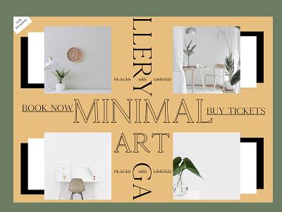 minimal art event white black interior design decor limited fancy serif font gallery art art gallery web design website events minimal ui graphic design design clean