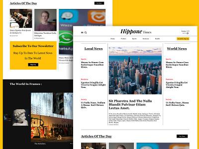 Hippone times newspaper web web design white black yellow gallery magazine newspaper webdesign website ui logo algeria ux typography branding minimal graphic design design clean