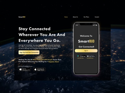 SmartBud Final startup future security macbook windows golden light black earth figma app design webdesign internet of things internetofthings iot technology clean ui ux website