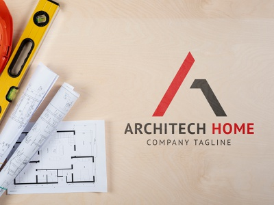 Arcitech Home modern logo modern minimalistic flat logo design flat logo minimalist logo minimal a letter logo construction logo architecture design architectural architecture brand and identity corporate identity constraction logo adobe illustrator branding company logo brand identity