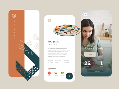 Recipes App UX hogoco design agency best design agency hogoco design studio hogoco figma freebie android ios best mobile app user interaction user experience mobile interaction mobile app food app food recepies mobile ux interaction design creative dhipu mathew