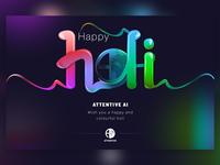 Attentive AI - Holi Ilustration
