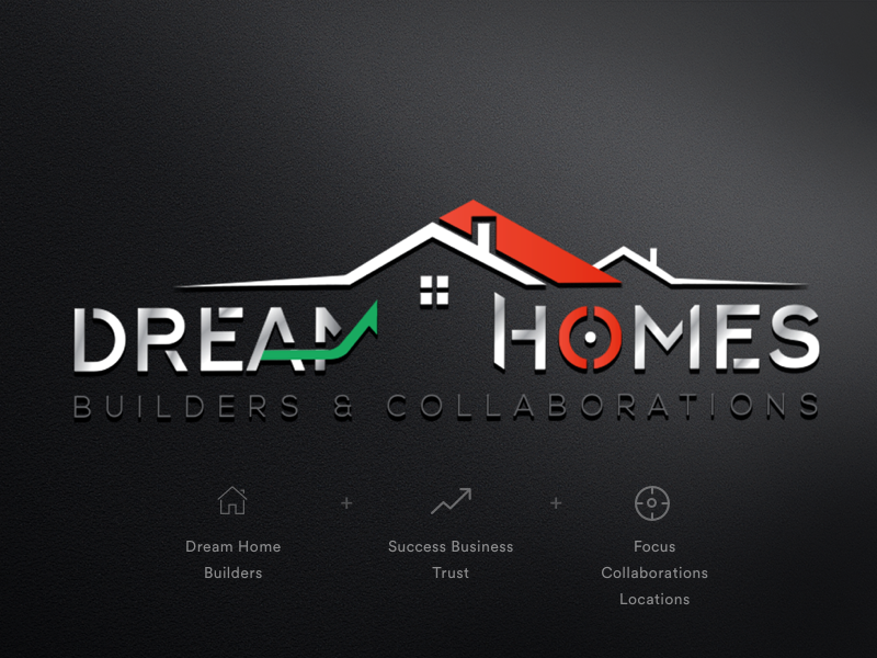 Dream Home - Logo Concept logo concept construction logo home dream home dhipu mathew dhipu inspire uxd