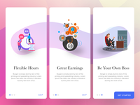 Onboarding Illustrations UX