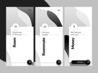 Onboarding Black & White UI