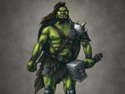 Orc Warlord in progress