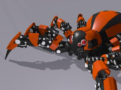3D spider model