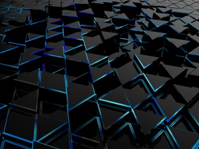 Abstract triangles 3D